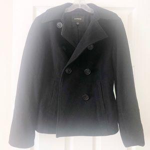 All black Pea Coat